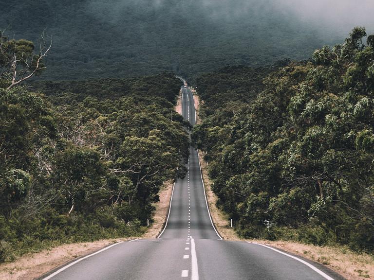 Brindabella Rd descent, Australia